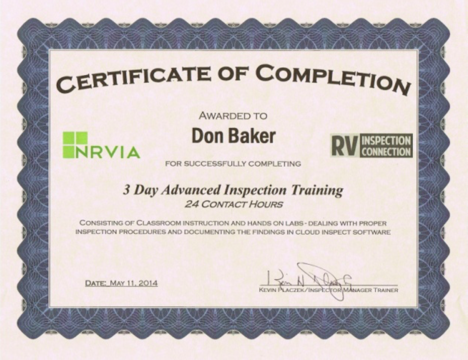 NRVIA-Advanced-Inspector-Certificate-Don-Baker
