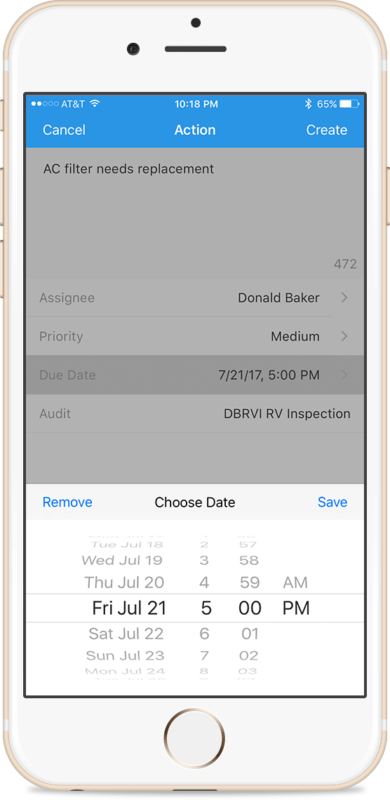 RV-Inspector-Pro-Add-Action-on-iPhone